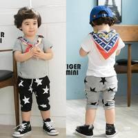 2014 the Korean style summer pants wholesale children's wear children five-star haroun pants kids sports pants