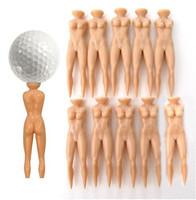 Faddish Individual Golf Tees Multifunction Nude Lady Divot Tools Tee Golf Stand 50pcs/lot Free Shipping