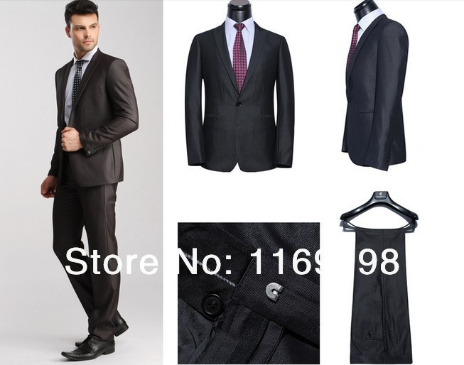 Wedding Suit For Men Brown Brown Business Suits Men
