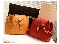 2014  Bucket Bag  New  Chain bag  Shoulder diagonal  PU Portable 2014PU003