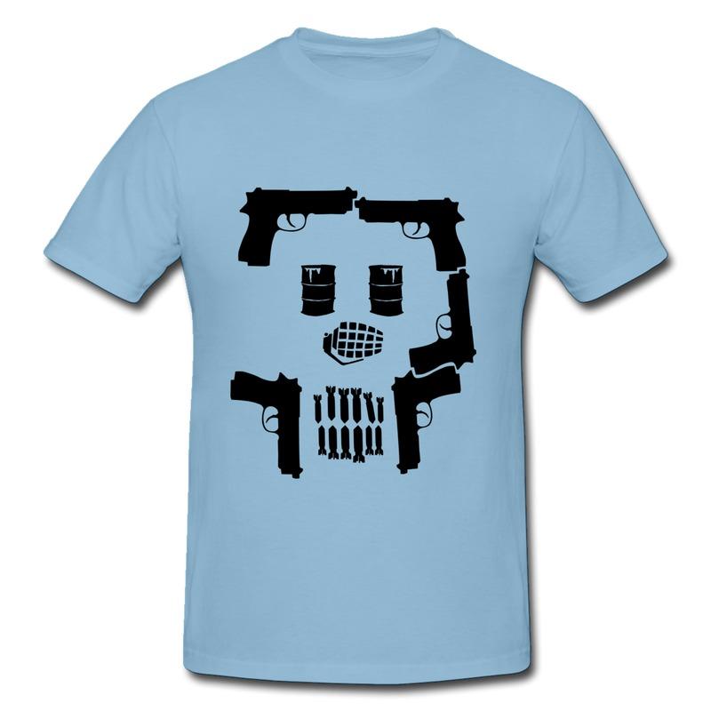 Slim Fit Tshirt Mens War Skull Design Own Fashion Style Tee Shirts for Boy(China (Mainland))