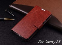 High Quality Business PU Leather Flip case for Samsung Galaxy S5 i9600,Stand Design Cover Thin Card Holder Phone case