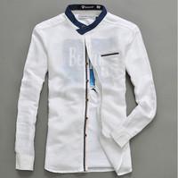 HOT 2014 New fashion men shirts casual shirt men's long sleeve shirt camisas masculinas mens shirts brand flax CITY BOY S549