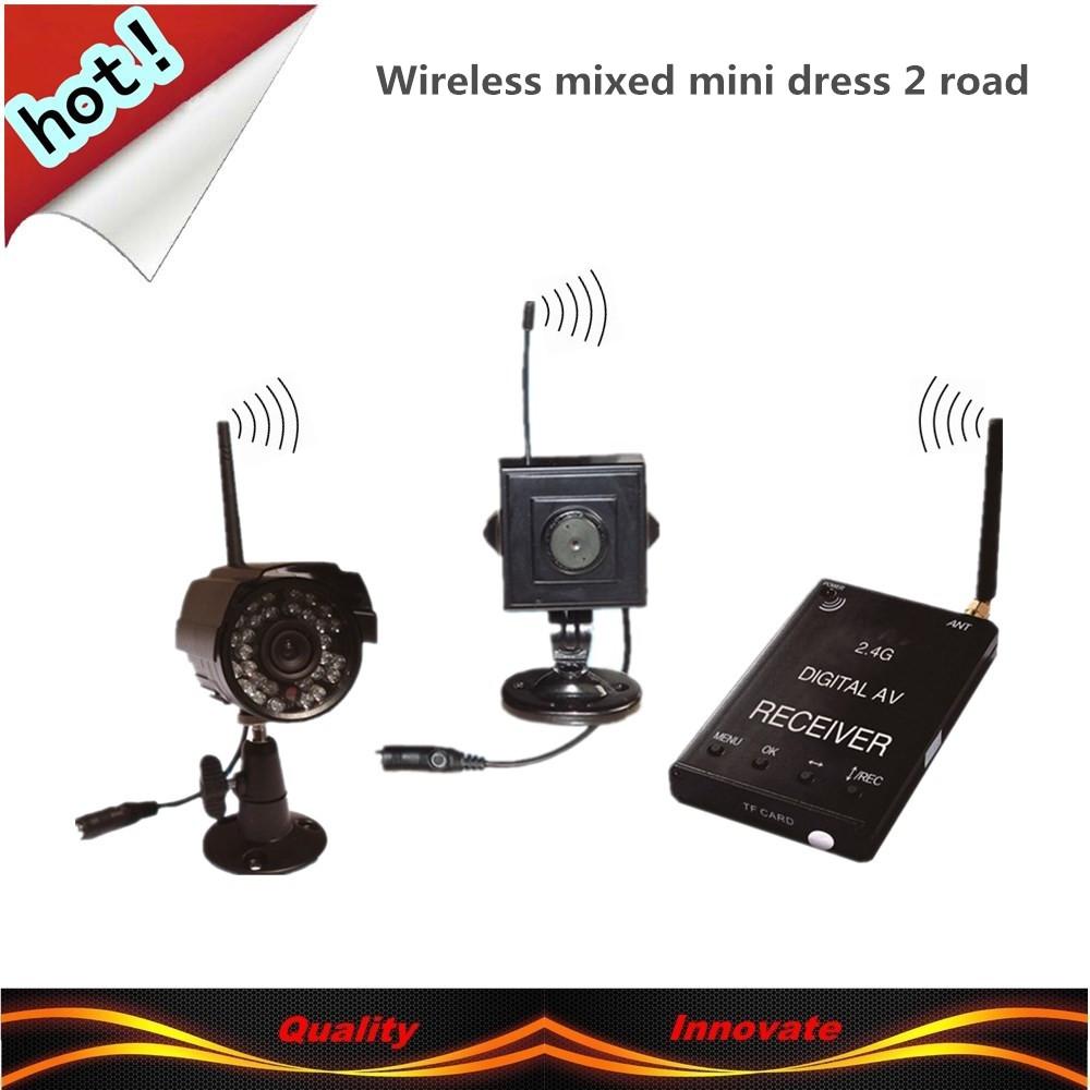 Digital wireless camera: video + playback + Motion Detection = set of problem-solving wireless camera Family mixed set 2 road(China (Mainland))