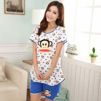2014 short-sleeve summer shorts fashion cartoon sleep women's 100% cotton lounge set
