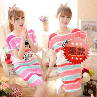 2014 sweet milk silk short-sleeve 2 piece set sleepwear lounge
