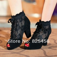 hot-sell casual high bag thick heel gauze high-heeled sandals open toe cattle nubuck leather female cool boots