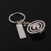 Free shipping llavero fashion gift trinket high quality sport keyring chain alloy tball doubale ring key fob keychains 2014