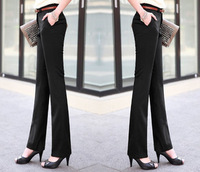 2014 spring and autumn ol suit pants female straight pants casual pants overalls women's long