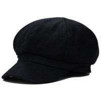 Newsboy cap autumn and winter woolen painter cap male women's outdoor thermal cap octagonal cap