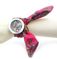 7 color Fashion decorative printed fabric women's Camouflage watches quartz 2014 new