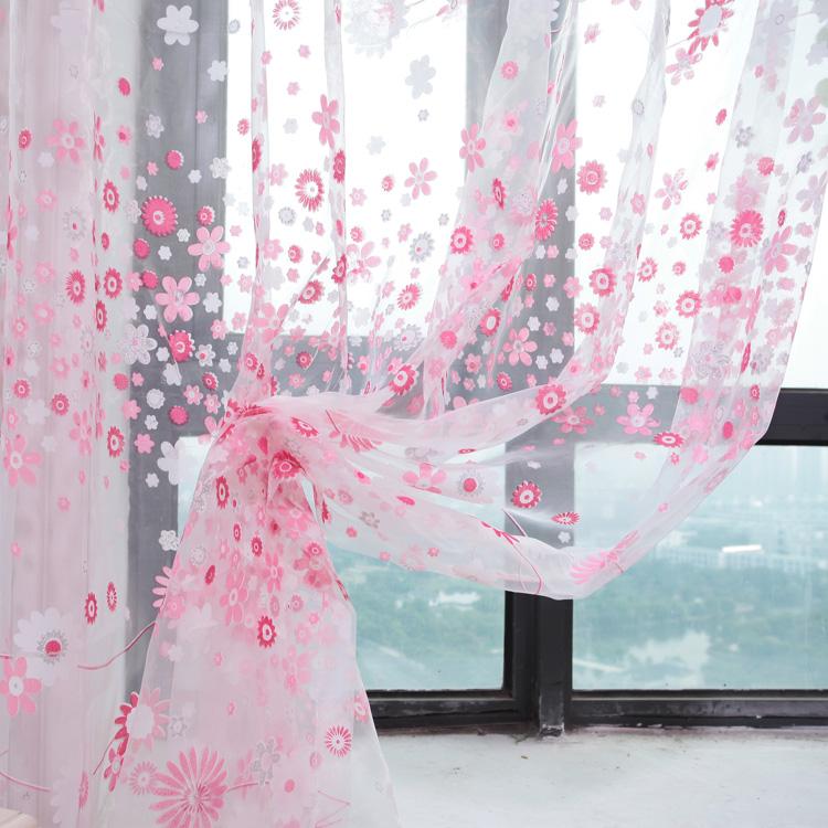 online kaufen gro handel blumen gardinen aus china blumen. Black Bedroom Furniture Sets. Home Design Ideas