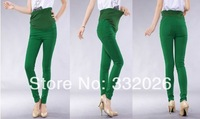 16 colors in stock Plus size XXL Elastic sateen casual pants for pregnant women Slim pencil maternity pants jeans trousers HOT!!
