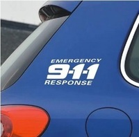 Drop shipping car sticker reflectiv car decal 911 for cruze chevrolet and so on N-255