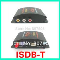 High Speed Car TV tuners car ISDB-T Digital TV receiver, 2 way av output for Brazil/Japan/Peru/Chile