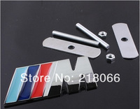 Free Shipping ///M 3D Metal Front Hood Grille Badge Grill Emblem Auto Stickers Car LOGO