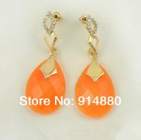 Free Shipping (5 Pairs/ Lot) Water Drop Pattern Acrylic Earring