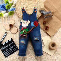 High Quality NEW Naughty Bear Jeans Overall For Boys Girls Children can open files pants Baby Coveralls Rompers