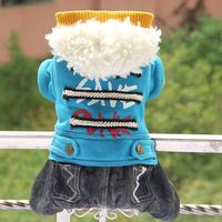 2 2014 jimmy doll autumn and winter berber fleece fur collar pet clothes teddy dog clothes