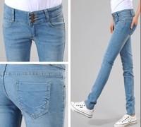 New promotion Women's Jeans pants/High Waist fashion ladies' Pencil Slim pants/Single-breasted Skinny Legging pants XXXL trouser