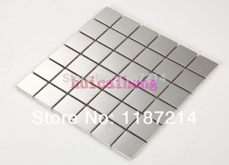 Mozaiek Tegels Muur Keuken : Metal Mosaic Tile Backsplash