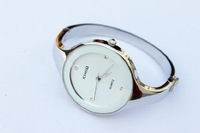 Elegent fashion round face lady's women's bracelet bangle wrist quartz watch