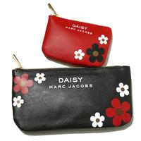 Free Shipping 2pcs Cosmetic Bags Set Zipper Make Up Storage Bag PU Leather Organizer red+black