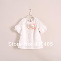 summer 2014 girl Petal sleeve t shirt
