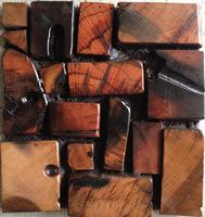 Charred wood tiles efflorescent mosaic solid wood wall decoration coverings tiles kitchen bath backsplash hotel 3D mosaic tiles