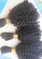High Grade 100 percent Human Brazilian Virgin Bulk Hair,Wholesale Price,2pcs,3pcs,4pcs/lot