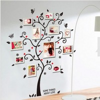 Free Shipping Large Size Family Photo Frame Tree Wall Sticker Stickers Home Decor Living Room Bedroom Decals