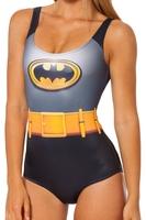 RESUN KNITTED 2014 New Galaxy digital print beach swimwear women Batman Cape Suit swimsuit free shipping