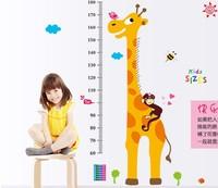 Used For Height Measure Cartoon Giraffe Monkey Wall Sticker Stickers Boys Girls Room Home Decor Kids Room Nursery Decals