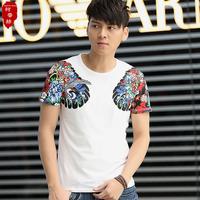 2014 men's summer clothing Billiken HARAJUKU male personality short-sleeve o-neck slim t-shirt male