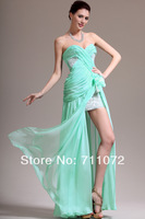 Best Selling New Sweetheart High Side Slit Ice Blue Sexy 2014 New Fashion Evening Dress Special Occasion Dresses