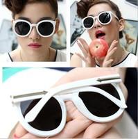 Retro-reflective metal sunglasses reflective sunglasses gradient lenses 9006