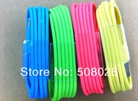 original quality and packing colorful iOS 7.1.0 1M 8 pin Data Sync USB Adapter Charger Cable For iPhone 5 5s 5c for ipad air