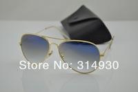 Wholesale , excellent quality UV400 protective sunglasses men , women sunglasses , 3025 / 3026 blue gradient glass lenses
