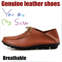 2014 spring women genuine leather casual shoes ladies sneaker
