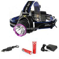 1800 Lumens CREE XM-T6 LED Headlamp Headlight Flashlight Head Lamp Light Hunting Camping ++ 2x18650 Battery 3000mAh / Charger