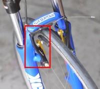 26 700c wheel stanchart birdy folding bike Extended V brake block