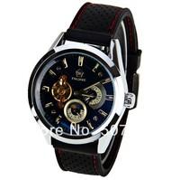 2014 New Famous Brand Fashion Mens Sports Watch Automatic Mechanical Watch Real 5 Needles Men Dress Wristwatch Free Shipping