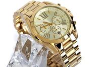 2014 Hot Brand Luxury Gold Fashion Watch Women Watches Quartz Watchband Wristwatch Date Womens Mens Dress Watches Free Shipping