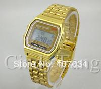 Nice Kids gift watch, ultra-thin retro digital watch, vintage LED wristwatch, disco colorful backlight, alarm clock stopwatch