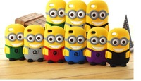 Phone protective sleeve little yellow people iph  5s / 4/4s Thief Daddy  4s/ silicone phone case can stand