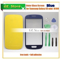 Blue Original Replacement S3 Mini LCD Outer Glass for Samsung LCD Touch Screen Digitizer Front Glass Lens for Samsung i8190