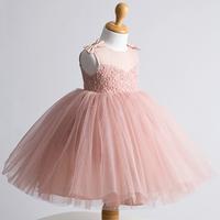 Female child formal dress one-piece dress princess dress flower girl dress one-piece dress color red bean paste white