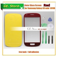 5 Pcs/Lot Red Original Replacement S3 Mini LCD Outer Glass for Samsung LCD Touch Screen Digitizer Front Glass for Samsung i8190