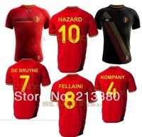 best quality 2014 Belgium jersey soccer home RED Shirt Belgium AWAY LUKAKU HAZARD VERMAELEN Kompany Fellaini shipping can custom