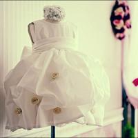 Girls clothing wedding dress one-piece dress princess dress flower girl dress tulle dress